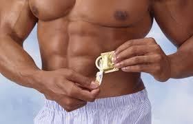Men measuring their penis