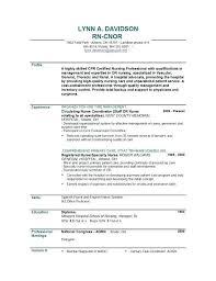 Nursing School Resume Template Registered Nurse Resume