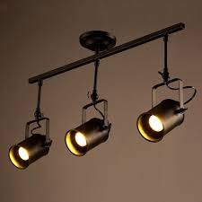 modern industrial lighting. Modern Industrial Iron Track Ceiling Lamp 3 Head Clothing Store/cafe Creative Spotlight Lighting Y