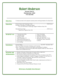 College Resume Template For Highschool Students 7 Basic High School