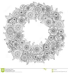 Pattern Coloring Book Circle Orient Floral