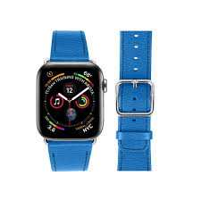 apple watch series 4 watch band 44 mm royal blue goat leather apple watch series 4 watch band 44 mm royal blue goat leather