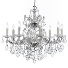 crystorama maria theresa 9 light clear crystal swarovski strass chrome chandelier