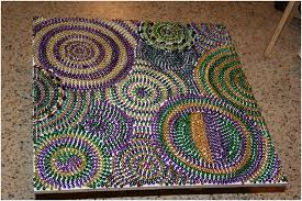mardi gras beads mosaic