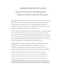 Free Articles Of Incorporation Template Download Best Form