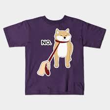 shiba inu dog no funny design art gift for dog kids t shirt