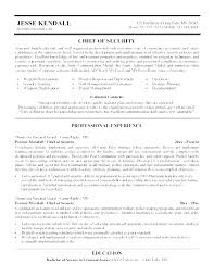 Security Resume Objective Examples Law Enforcement Resume Objective Statement Examples Samples Security