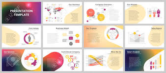 Company Overview Templates Business Presentation Templates Vector Infographic Elements