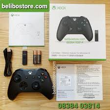 Tay cầm chơi game Xbox One S + wireless adapter cho windows (usb phát sóng  bluetooth)