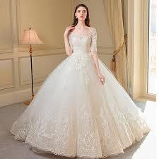 philippines off shoulder long wedding dress