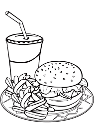 Printable Food Coloring Pages Coloringmecom