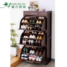 Solid wood rotating shoe rack tipping shoe shoe shoe storage cabinet Hall  entrance Cabinet cupboard TV