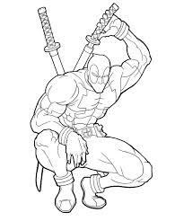 Deadpool Coloring Pages Printabl Deadpool Coloringdeadpool
