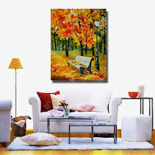 2018 large canvas paintings tree landscape wall picture for living room decor wall art canvas modern oil painting no framed from dafenoilpaintingyeah