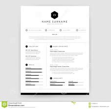 Stylish Cv Resume Template Design For A Creative Person Vector