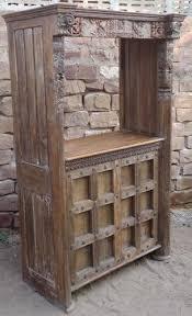 old door wooden bar counter