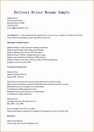 Contemporary Sample Driver Resume Doc Vignette Documentation