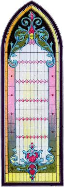 vintage stained glass gothic window image