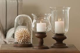 glass hurricane candle holders wood base hurricane candle holder