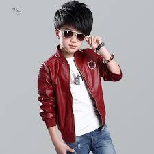 2018 boya jackets clothing 50 fashion brand leather jacket children winter boys outerwear coats infant kids