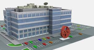 modern office building. modern office building 525 almanor ave 3d model max obj 3ds fbx c4d mtl 11 b