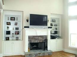 installing tv over fireplace mounting above