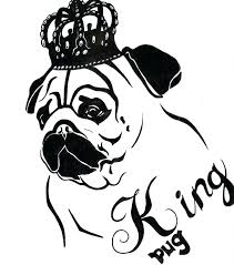 Printable Pug Dog Coloring Pages Children Book Kids Funny Face Of