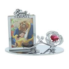 disney chrome plated photo frame beauty and the beast