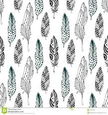 feather patterns feathers seamless pattern in ethnic style hand drawn zentangle