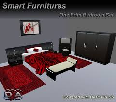 smart bedroom furniture. bedroom set black red furniture rezzer low one 1 prim zero smart bedroom y
