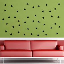 Small Picture Black Triangle Wall Art Mural Decor Sticker Living Room Bedroom