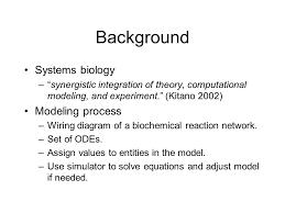 systems biology markup language ranjit randhawa department of 3 background