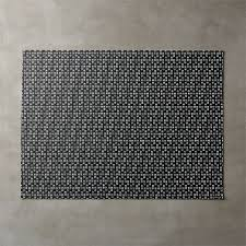 chilewich strike black placemat