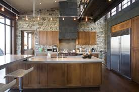 kitchen Endearing Big Space Kitchen Ideas Display Big Vent Hood Combine  Tantalizing Kitchen Track Lighting For