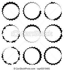 Circle Border Edgy Zigzag Circle Frame Circle Border Textured Circular Shape
