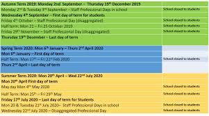 Term Dates - Chesterton Community College - The Cambridgeshire ...
