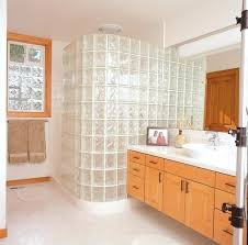 glass block shower designs walk in door less glass block shower constructed with a variety of