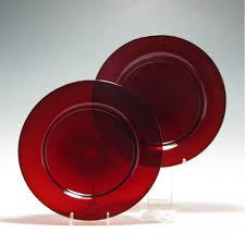 rare regency red glass salad plates c1820