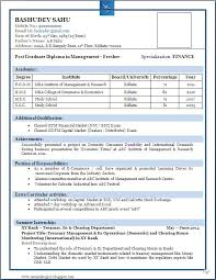 Resume Format Download For Freshers Beautiful Resume Format For