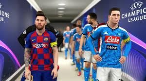 Manchester city olympique lyonnais vs. Napoli Vs Barcelona Champions League 2019 2020 Gameplay Youtube