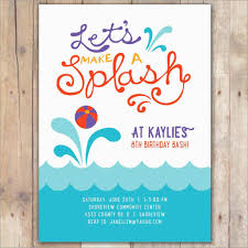 Free Pool Party Invitations Printable Swimming Pool Party Invite Template Free Birthday Invitation