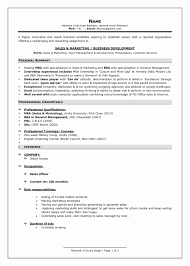 Resume Format For Mba With One Year Experience Archives