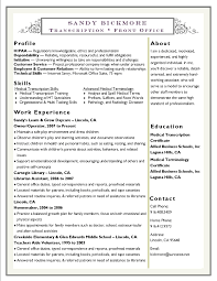 Sandy Bickmore Resume Medical Transcription Medical Terminology