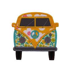 Machine Applique Designs Hippy Van Machine Embroidery Applique Design Pattern In 3