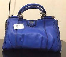item 1 NWT Coach Madison Pinnacle Zig-Zag Perforated Carrie Satchel Cobalt  F23745 -NWT Coach Madison Pinnacle Zig-Zag Perforated Carrie Satchel Cobalt  ...