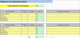 price estimate template cost estimation template schedule and cost summary calculator