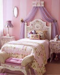 Princess Girls Bedroom Princess Bedrooms With Floral Bedding And Purple Canopy Fabric