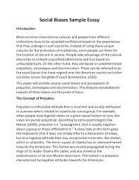 social biases sample essay