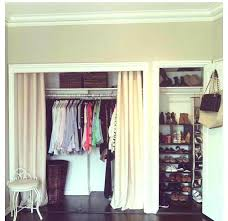 no closet doors ideas install molding and use curtains instead where we have no closet doors