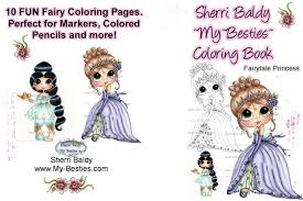 Small Picture Coloring Book 5 x 7 Fairytale Princess 10 pages Big Eye Big Head